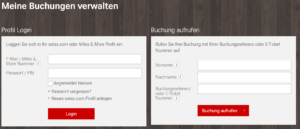 Swiss Air Online check In