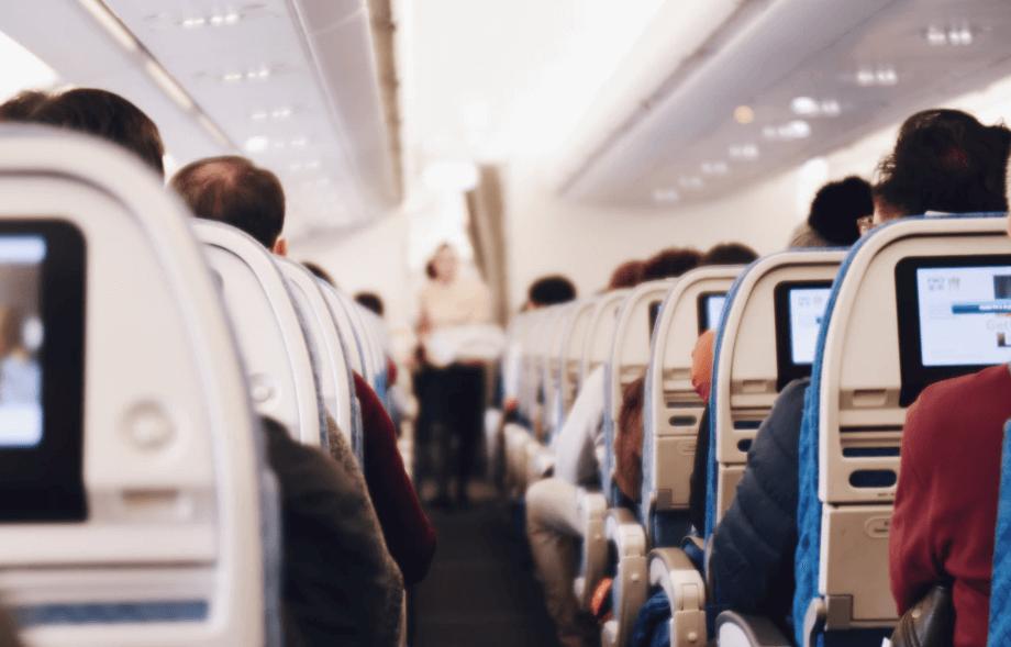 Trockene Luft im Flugzeug