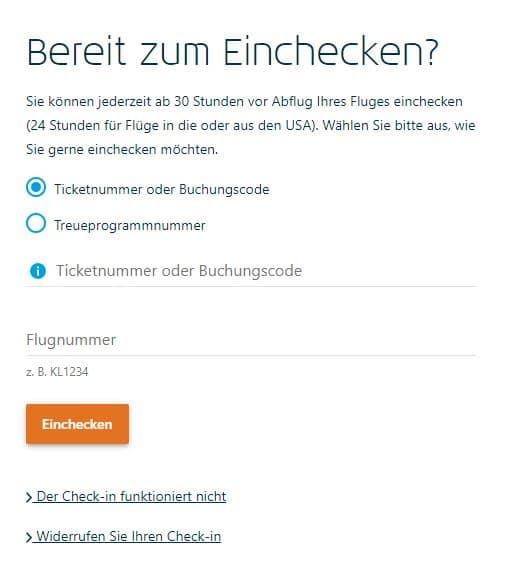 klm royal dutch airlines online check in